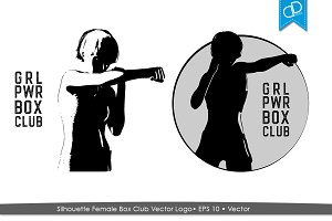 Silhouette Female Box Club Logo