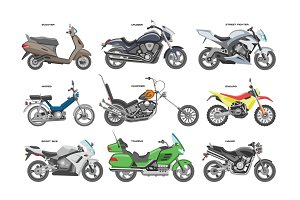 Motorcycle vector motorbike or