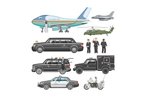 Government car vector presidential