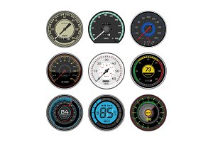 Speedometer vector car speed
