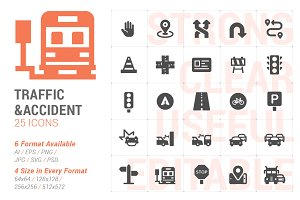Traffic & Accident Filled Icon