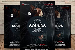 Deep Electro Sounds Party Flyer