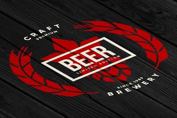 Craft beer brewery vector logo