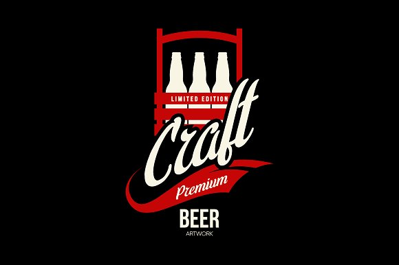 Craft beer brewery vector logo in Illustrations - product preview 1