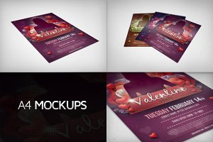 A4 Multipurpose Mockups Bundle