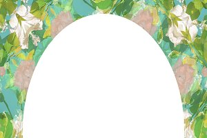 Circle Frame Background with Decorat