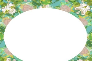 Circle Landscape Frame Background wi