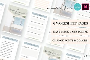 Photographer Wedding Worksheet Canva
