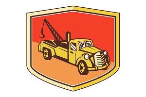 Vintage Tow Truck Wrecker Shield Ret