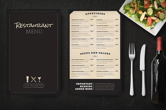 restaurant menu mockup product mockups creative market