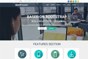 BootFrame - Responsive Template