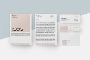 Magnolia Stationery Template