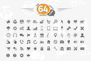 64 web, business and computer icons