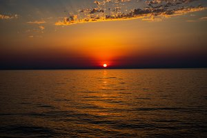 Sunset over the Black sea
