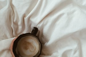 Woman hand and coffee