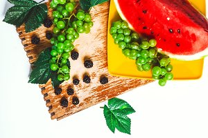 on a wooden background is a ripe gra