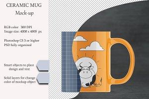 Ceramic mug mockup. PSD mockup.