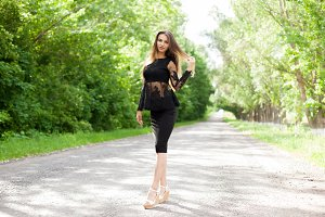 Steep slender Ukrainian woman on the