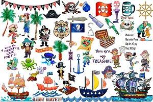 Watercolor/Illustrative Pirates
