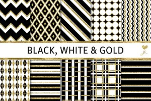 Black, White and Gold Textures