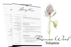 Resume Word Template- Letter & A4