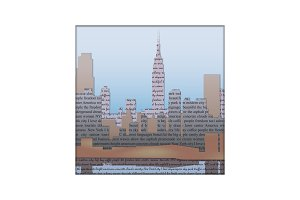 New York paper cut art