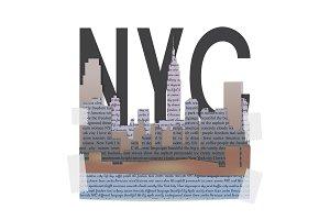 New York t-shirt fashion print