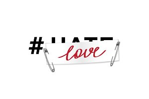 Hashtag Love t-shirt fashion print