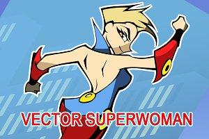 Vector superhero girl
