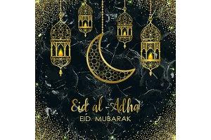 Eid al Adha Marble Template