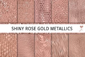 Shiny Rose Gold Metallics