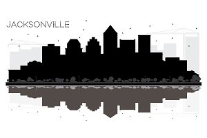 Jacksonville Florida City skyline
