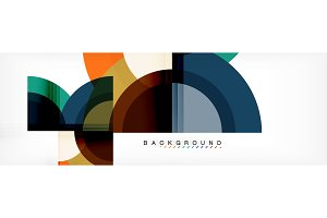 Vector circular geometric abstract