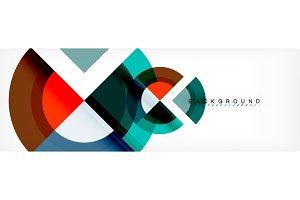Vector circular geometric abstract