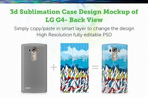 LG G4 3d Sublimation Mock-up