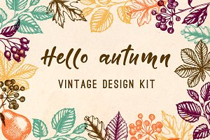 Vintage Autumn Design Kit