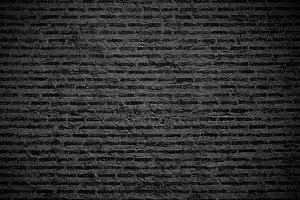 Black brick wall texture background