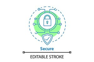 Internet security concept icon