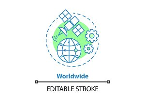 Worldwide access concept icon