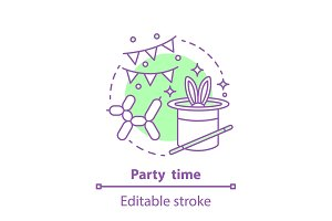 Party time concept icon