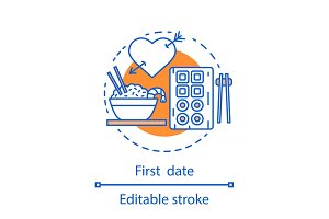 First date concept icon