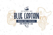 BLUE CAPTAIN TYPEFACE by  in Display Fonts