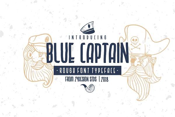 Display Fonts: 24Design Stds - BLUE CAPTAIN TYPEFACE
