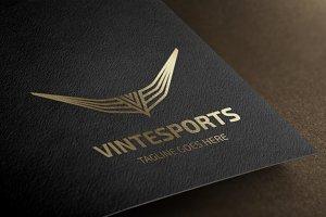 Letter V - Vintesports Logo