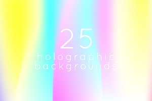 25 square holographic backgrounds