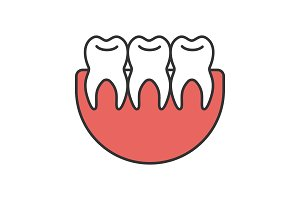 Healthy teeth color icon