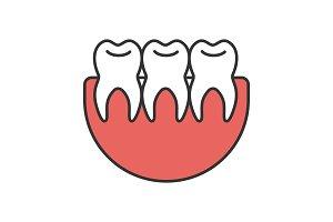 Healthy teeth color icon