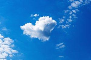 Heart-shaped cloud in the sky
