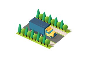 Isometric front right view truck
