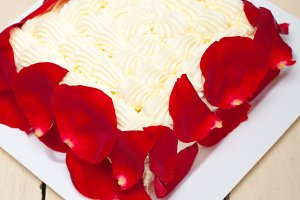 whipped cream mango cake with red rose petals 001.jpg